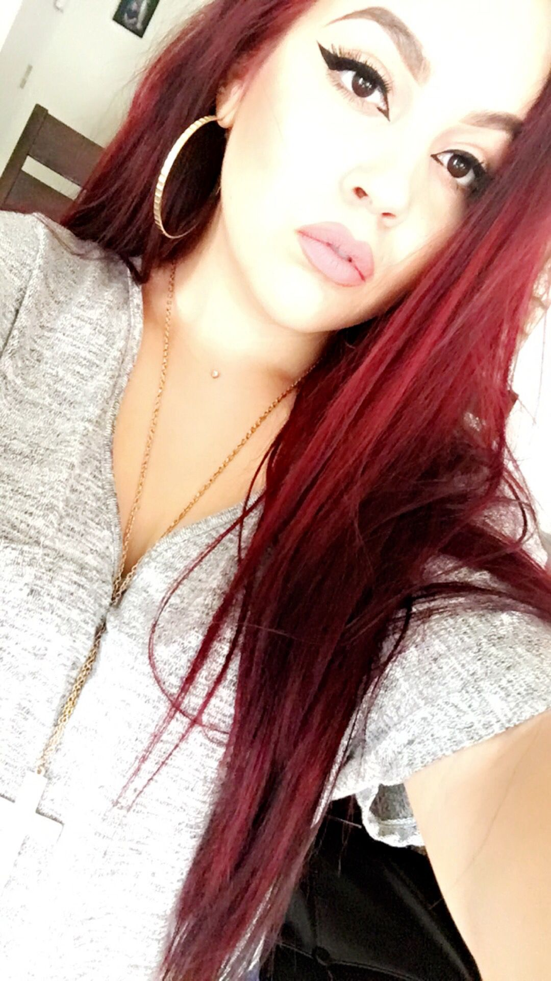 Lo Real High Color In Red Hot Bleached First Redhead Dyed Red Hair Cool Hairstyles Red Hair
