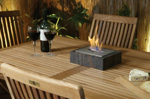 Table Top Outdoor Decorative Bioethanol Heater Set Within