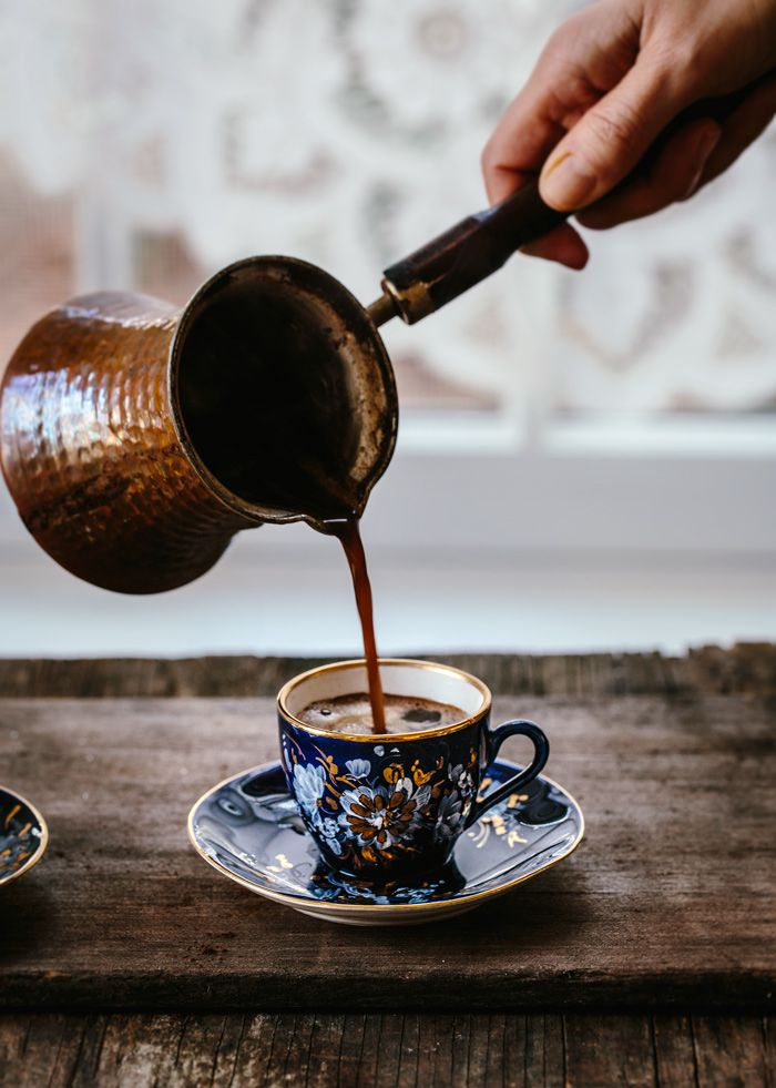 Learn how to make Turkish Coffee with step by step photos from someone who grew up in Turkey. #coffee #turkishcoffee #coffee #foolproofliving