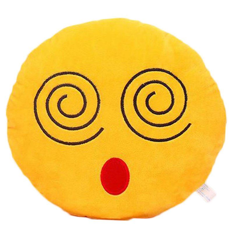 Dizzy Emoji Large Pillow Smiley Face Pillows Emoji Cushions Plush Pillows