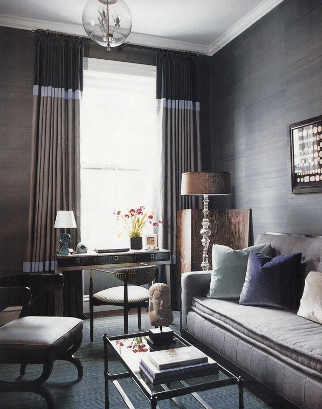 Chic  amp sophisticated living room masculinebedding design interiors hotel salon also best images house decorations cottage shelves rh pinterest