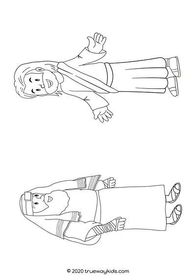 Jesus and Nicodemus coloring page #coloring in 2020 ...