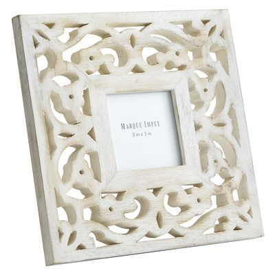 White Washed Carved Frame - 3x3 Just add paint or rhinestones to ...