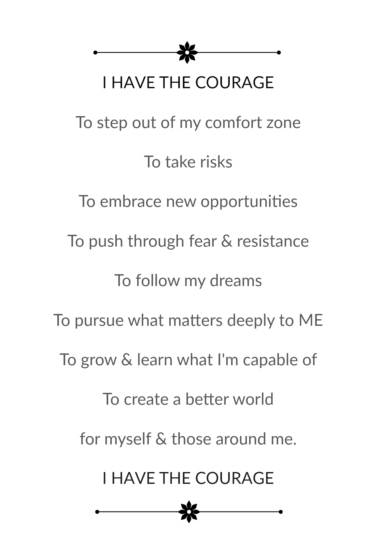 """I can step out of my comfort zone"" Affirmation"