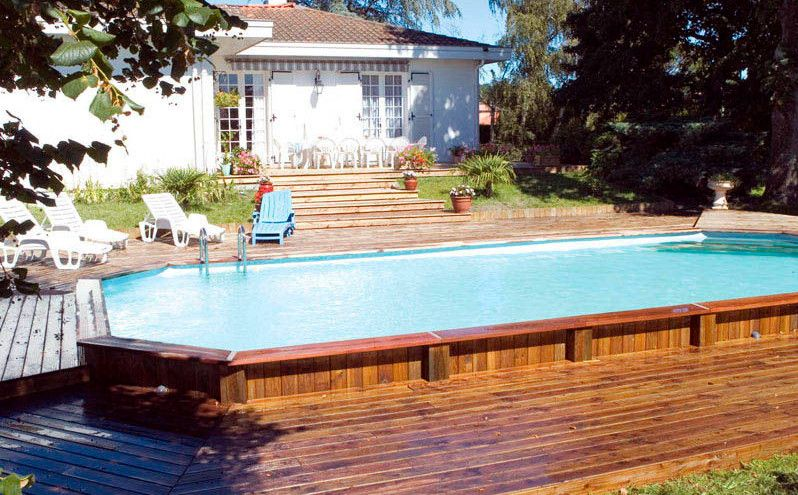 semi inground pool designs
