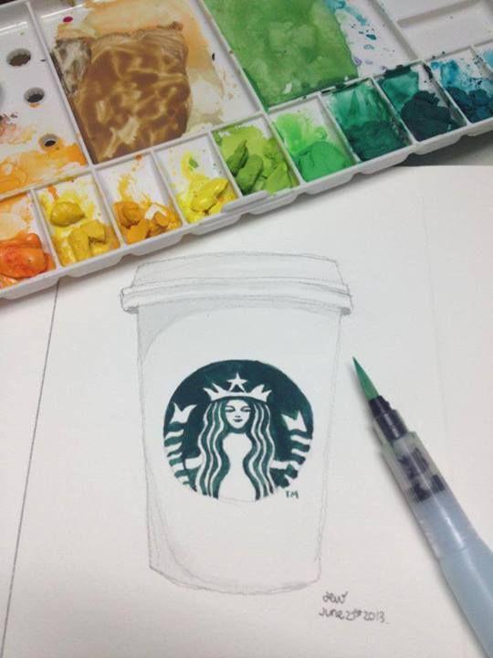 Pntalo art arte starbucks watercolor pintura diy acuarela pntalo art arte starbucks watercolor pintura diy acuarela solutioingenieria Gallery