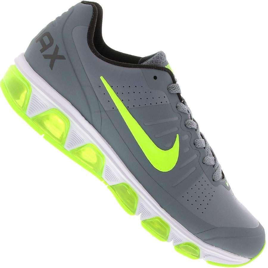 Tênis Nike Air Max Triade 3 EXT Masculino Cinza   Verde Limão   moda ... a8d26df6c9