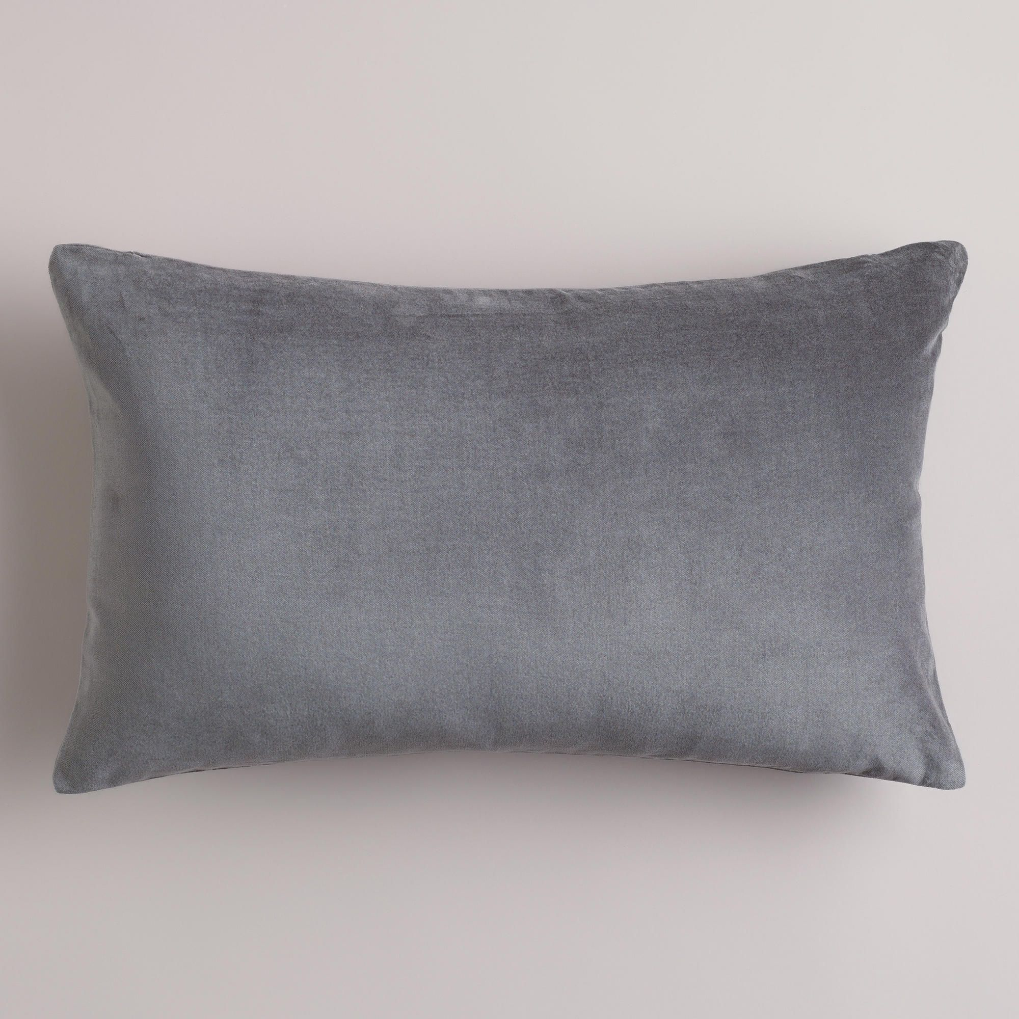16 99 tornado gray velvet lumbar pillow world market project