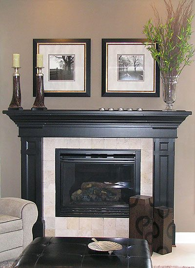 South of grand fireplace grand homes renovations for Dark fireplace mantel