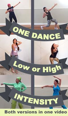 Move the body / dance the brain. All ages & abilities.  Low impact and higher intensity choreography dance versions in one video.  Ideal for anyone starting their dance fitness journey. ALSO good for folks wishing to go for more intensity. Great way to learn the moves too.   Zumba. Any age dancing.