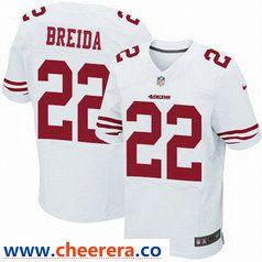 e9b9ca056 Nike San Francisco 49ers  22 Matt Breida White Men s Stitched NFL Elite  Jersey