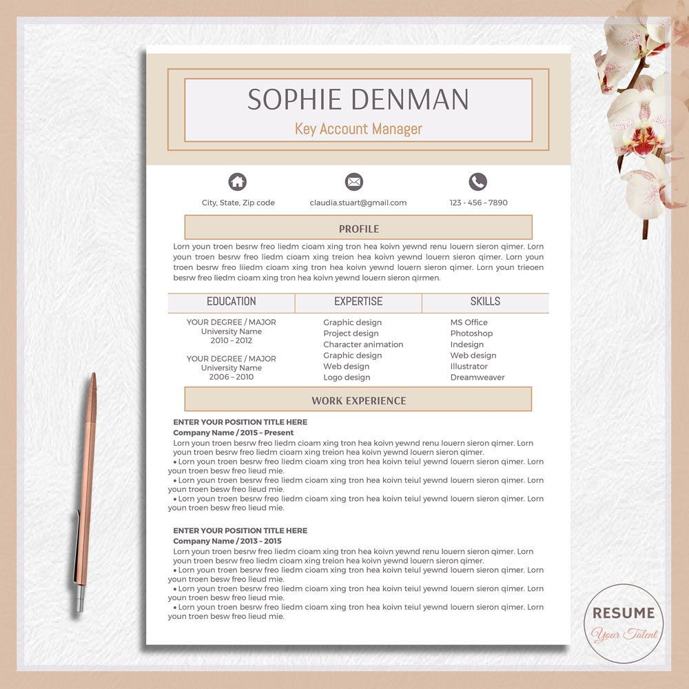 Buy Resume Templates Awesome Resume Template Cv Template Cv Design Word Resume Modern Resume