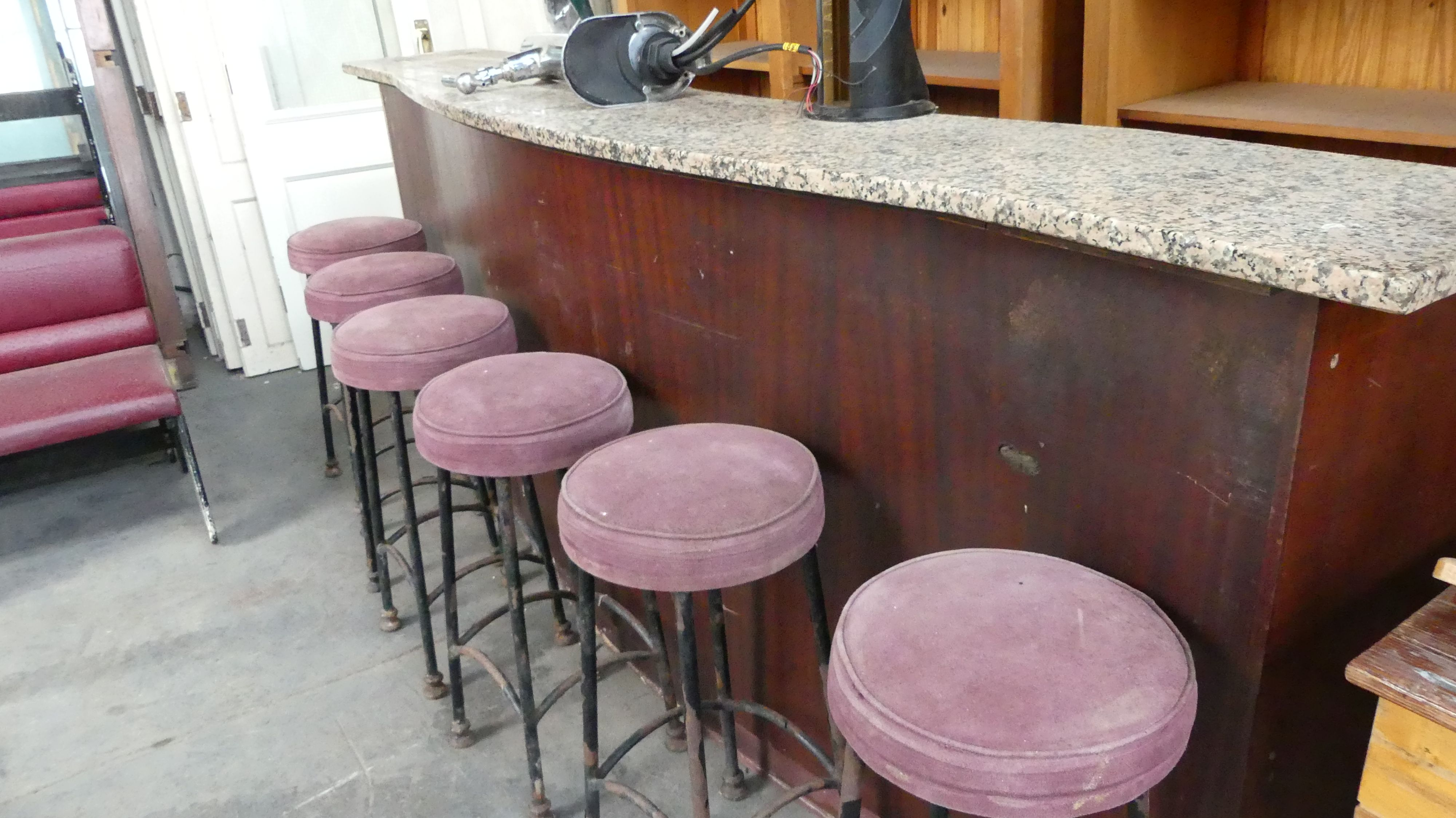 Marble Bar Counter And Vintage Bar Stools Marble Bar Vintage
