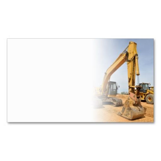 backhoe construction equipment business cards. Make your own ...