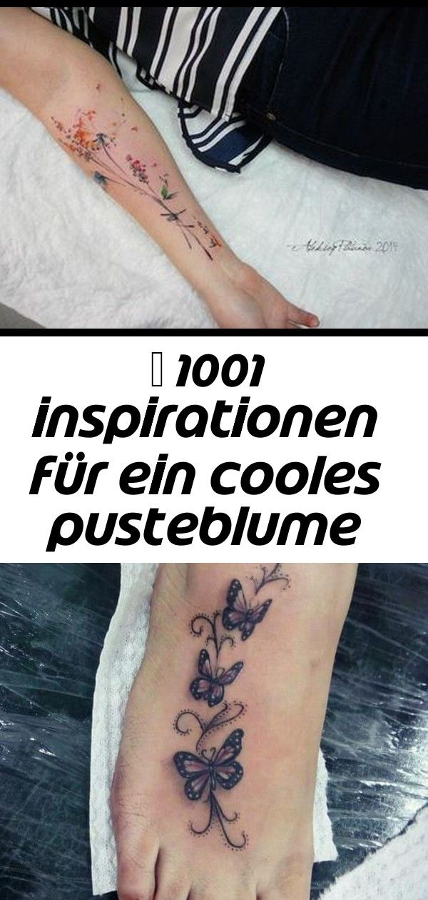 Photo of ▷ 1001 inspirations pour un tatouage cool de pissenlit 12