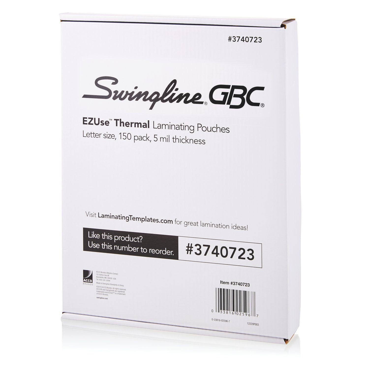 Swingline Gbc Thermal Laminating Sheets Pouches Letter Size 5 Mil Ezuse 150 Count 3740723 In 2020 Lettering Letter Size Glue Crafts