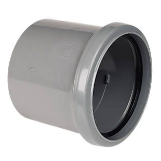 FloPlast SP124G Pipe Coupler Single Socket Grey Top quality uPVC. BS EN 1329-1: 2000. http://www.MightGet.com/january-2017-13/floplast-sp124g-pipe-coupler-single-socket-grey.asp