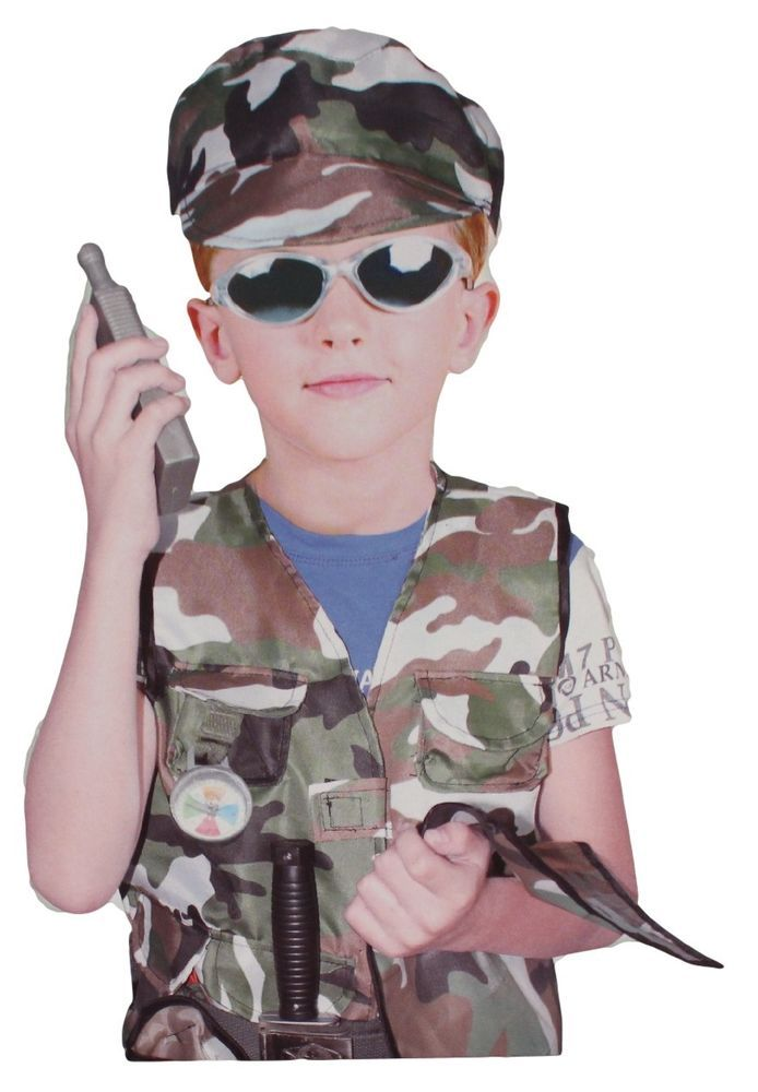 Boys Army Costume Military Soldier Outfit Fancy Kids Fits 3-7 Year Olds New #Lijian #ArmyMilitarySoliderCostume  sc 1 st  Pinterest & Boys Army Costume Military Soldier Outfit Fancy Kids Fits 3-7 Year ...