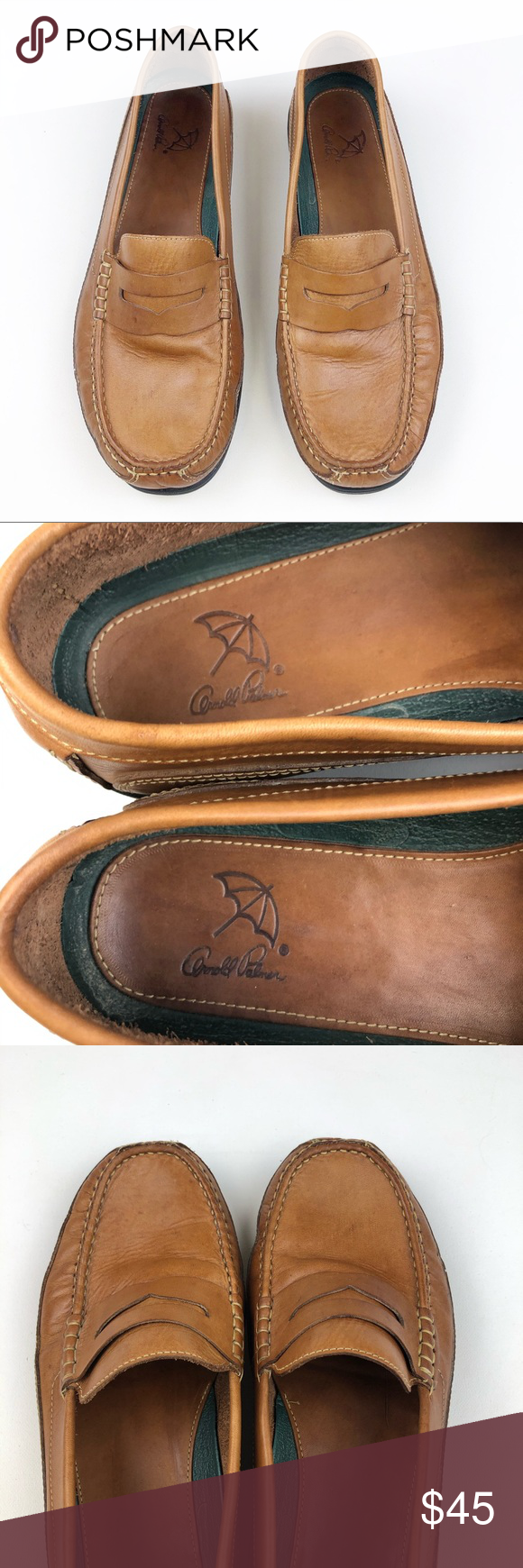 Arnold Palmer Scarlet Tan Leather