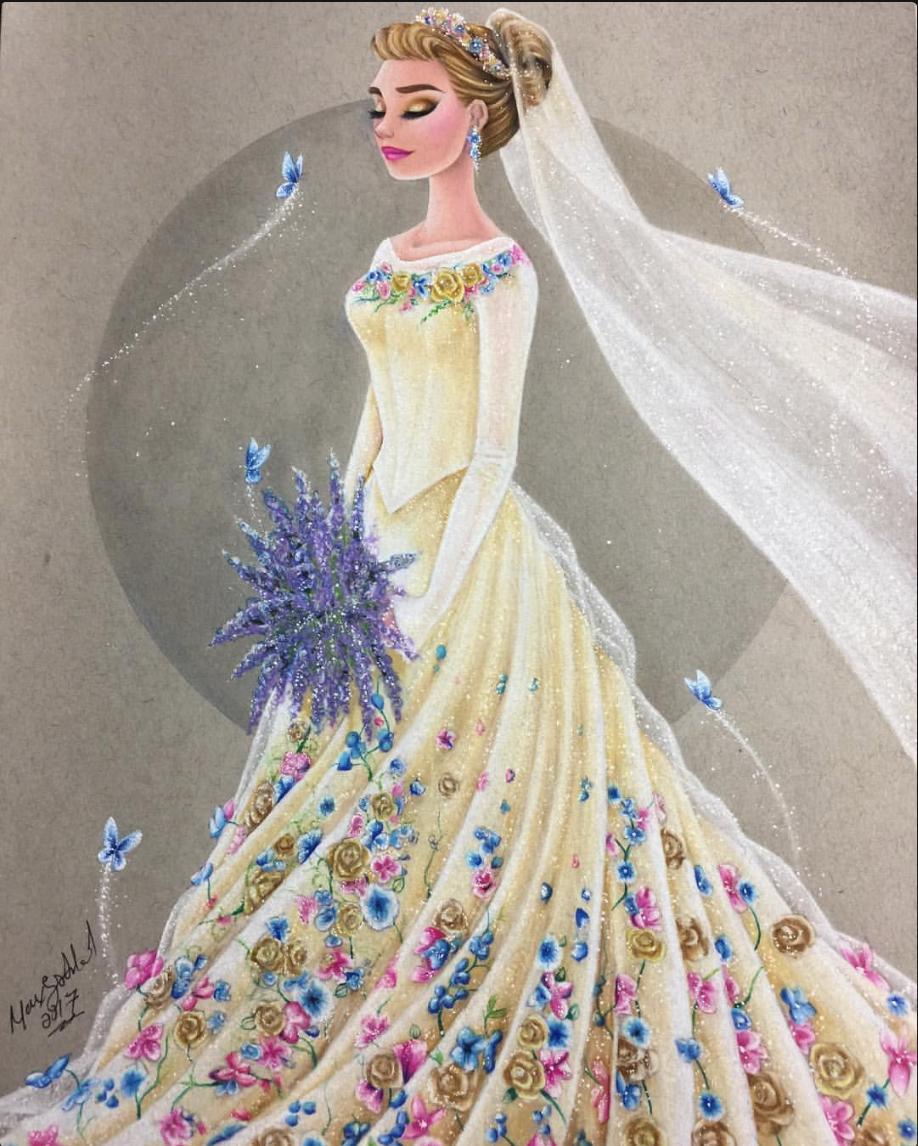 Cinderella Ella In Her New Beautiful Wedding Dress