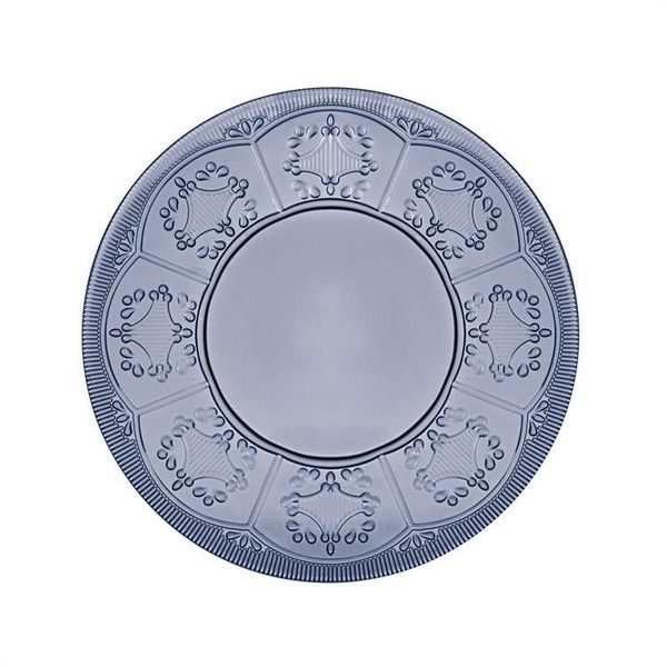 Fitz and Floyd Trestle Plate, Indigo (€7,88) ❤ liked on Polyvore featuring home, kitchen & dining and fitz and floyd