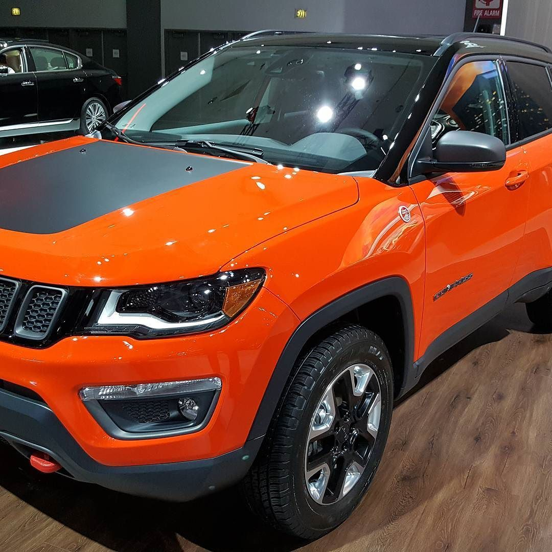 The New Jeep Compass Trailhawk In Trailchasers Orange I Really Like It Orange Jeep Suv Comparison Small Suv