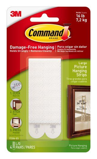 17206 Es Command Tm Large Picture Hanging Strips Picture Hanging Hanging Picture Frames Picture Frame Hangers