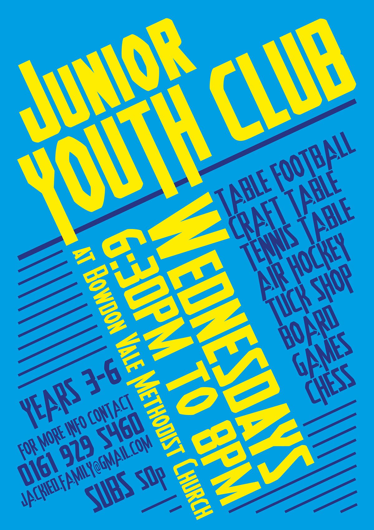 Poster design for youth - Bowdon Junior Youth Club Poster By Mrsbee Co Uk