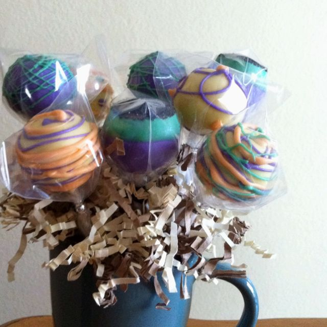 Cake pop mug bouquet- A yummy treat with reusable container :)