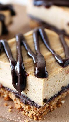 Chocolate Peanut Butter Pretzel Cheesecake Bars | best peanut butter desserts