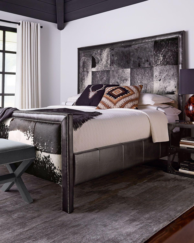 Omaha Queen Hairhide Bed in 2019 | Classic Cool: Black ...