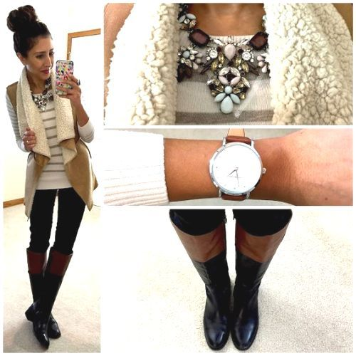 winter and fall vest style, Stylish outfits combination for a preppy look http://www.justtrendygirls.com/stylish-outfits-combination-for-a-preppy-look/