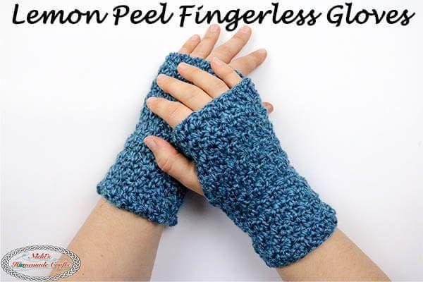 Fingerless Gloves Crochet Pattern and Tutorial - Free