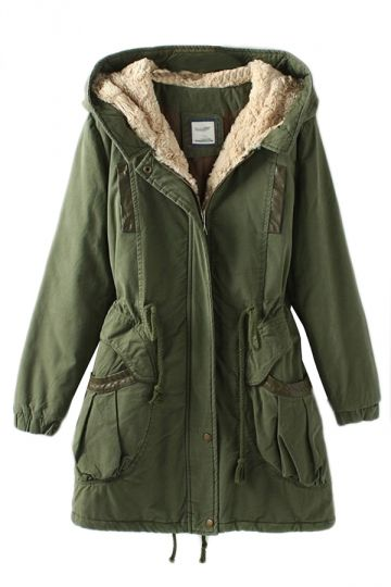 Womens Parka Coats Green