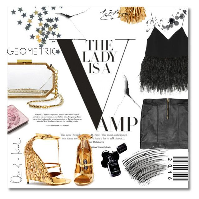 """Black chic"" by tuilindo ❤ liked on Polyvore featuring Versus, Chanel, Elizabeth and James, Juicy Couture, Henri Bendel, Trish McEvoy, Tom Ford, Bobbi Brown Cosmetics, gold and black"