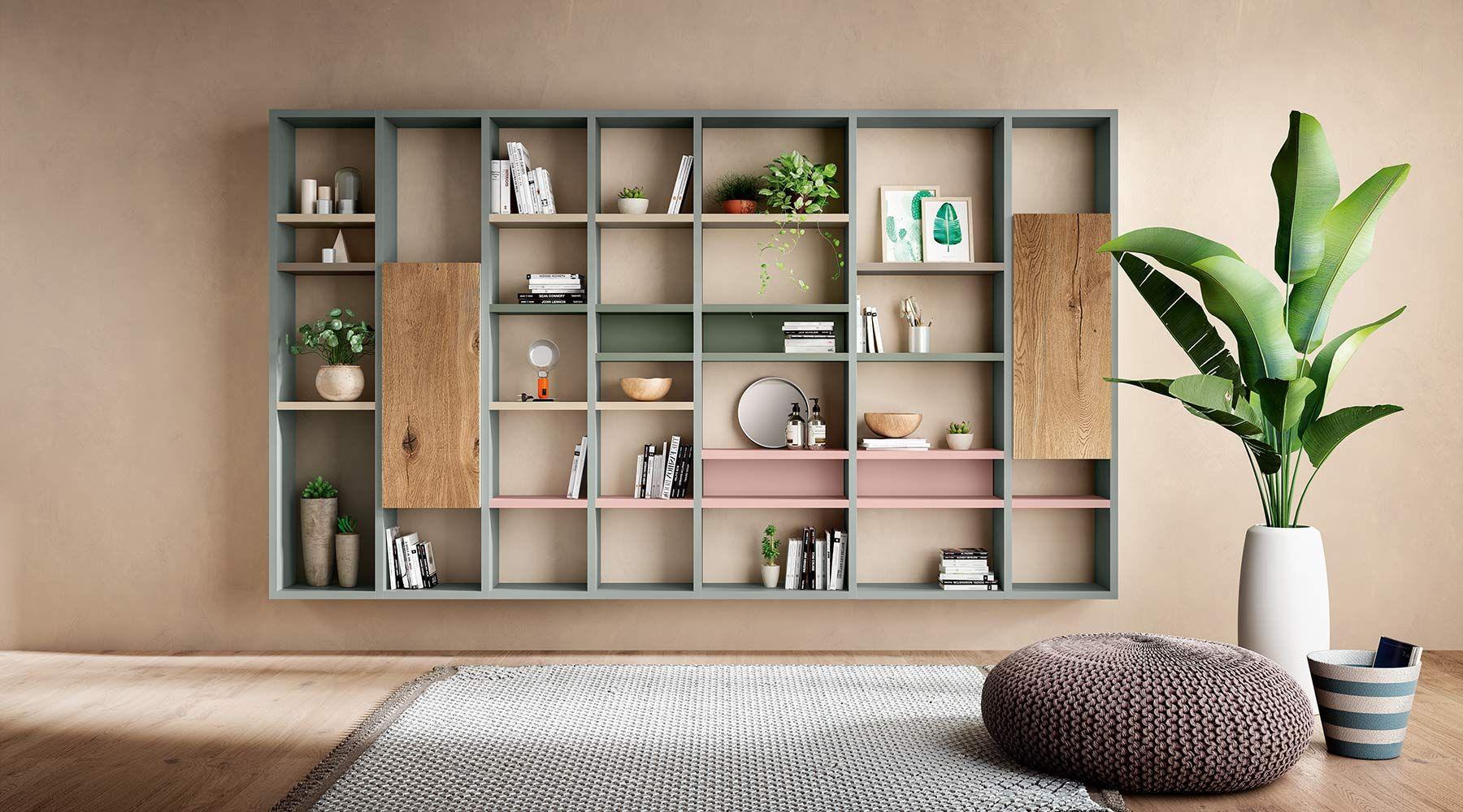 Arredamento Libreria ~ Libreria a muro mondo convenienza con 100 mobili per soggiorno