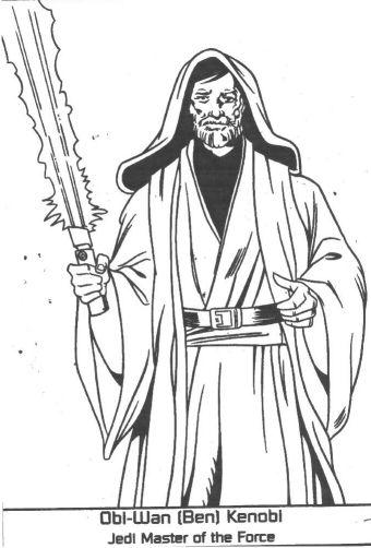 Obi Wan Kenobi Coloring Pages 3 340x502
