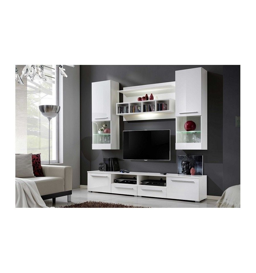 Ensemble meuble tv corte blanc d coration s jour s jour mobilier de salon ensemble meuble for Ensemble meuble salon sejour