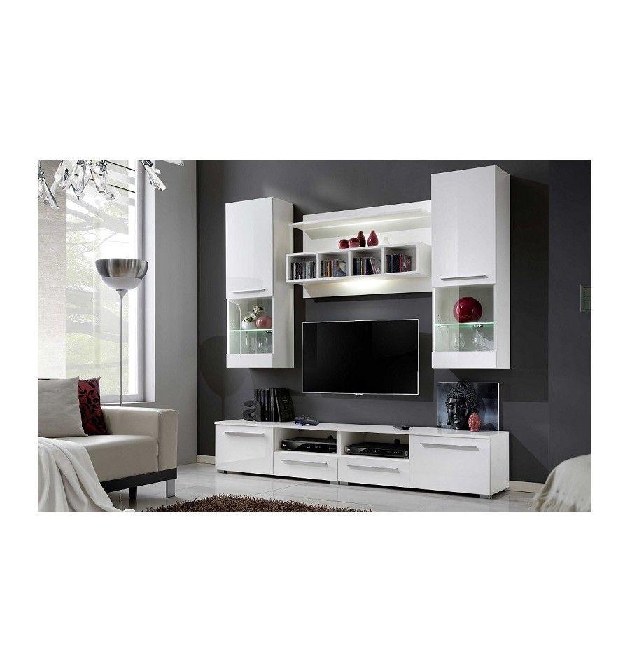 Ensemble meuble tv corte blanc d coration s jour s jour mobilier de salon ensemble meuble for Ensemble meuble salon sejour