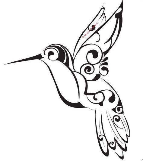 Colorful Tribal Hummingbird Tattoo Design Photo 3 More Tatuajes De Aves Pequenas Tapar Tatuajes Colibri Dibujo