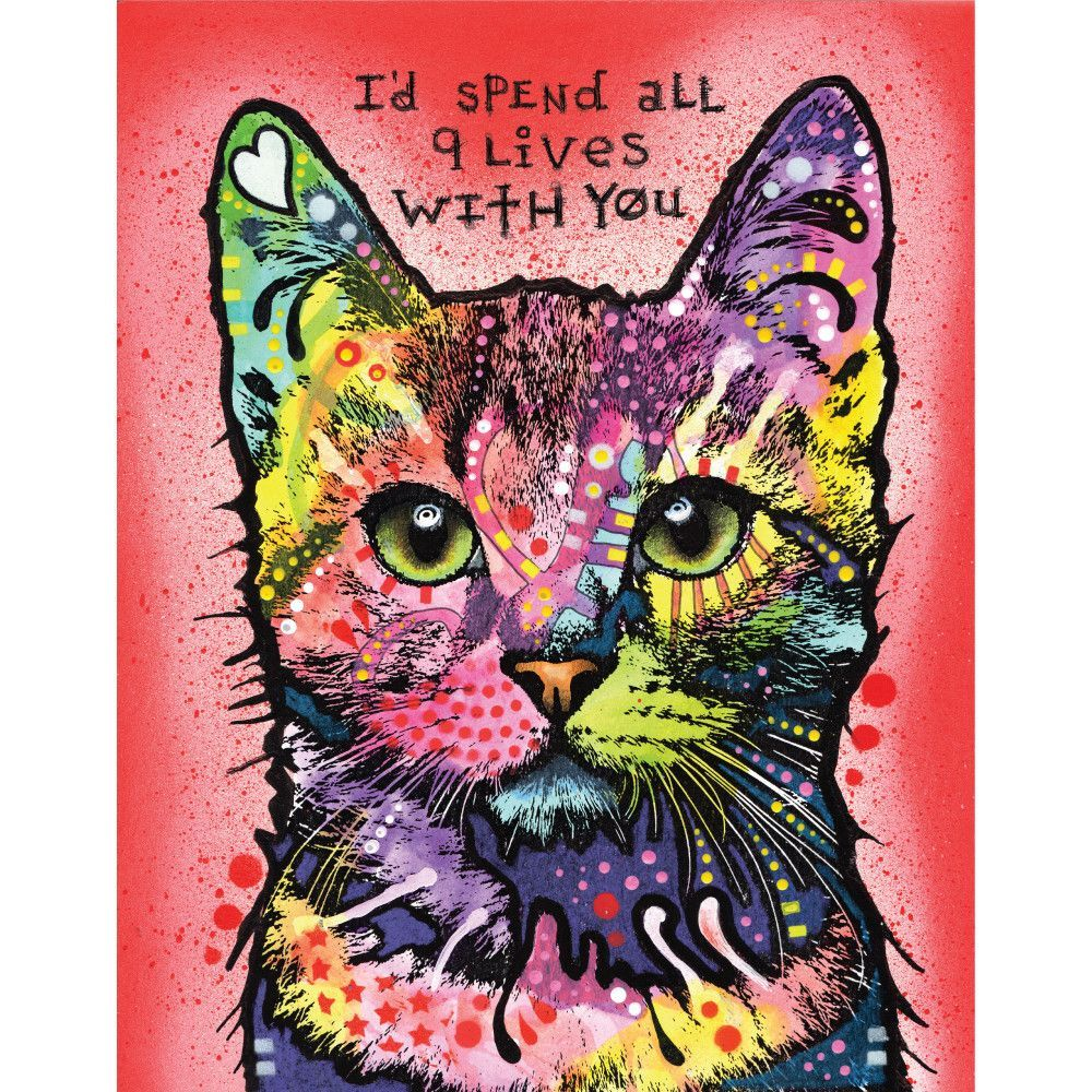 Animal Pop Art Wall Decal 9 Lives by Dean Russo Pop