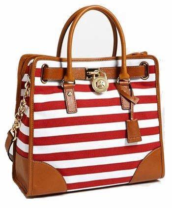 cf17e528df Large Hamilton Red  White Striped purse