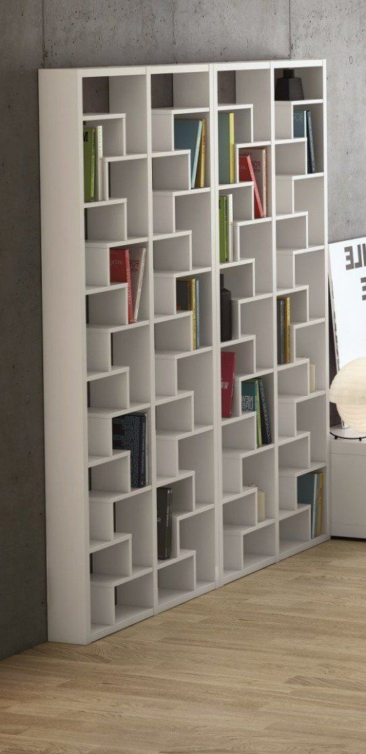 temahome biblioth que design ivy blanche asym trique id es d 39 ameublement bibliotheque design. Black Bedroom Furniture Sets. Home Design Ideas