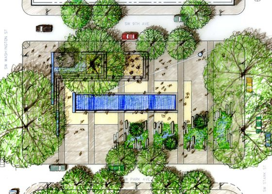 Three Downtown Parks Master Plan