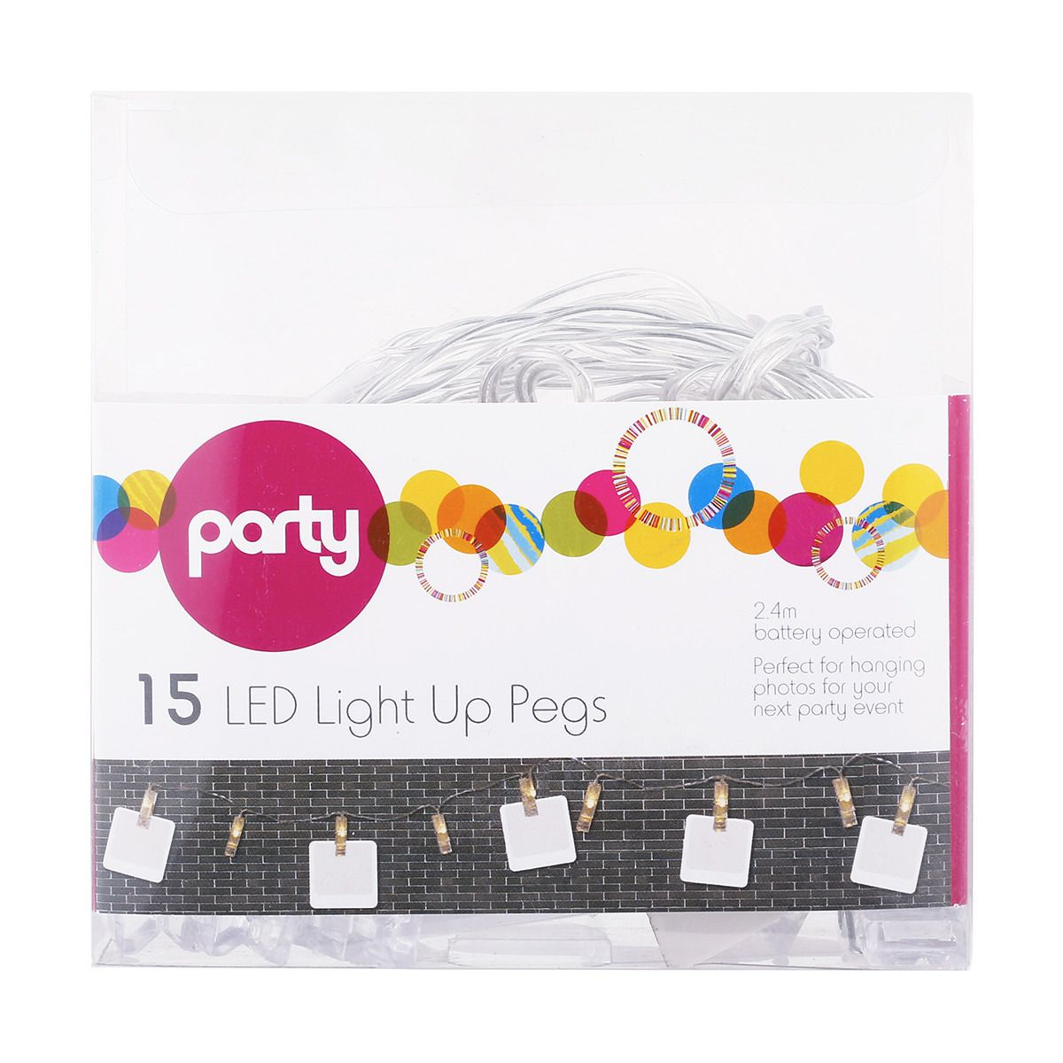 15 Pack LED Light Up Pegs Kmart Balloons and more