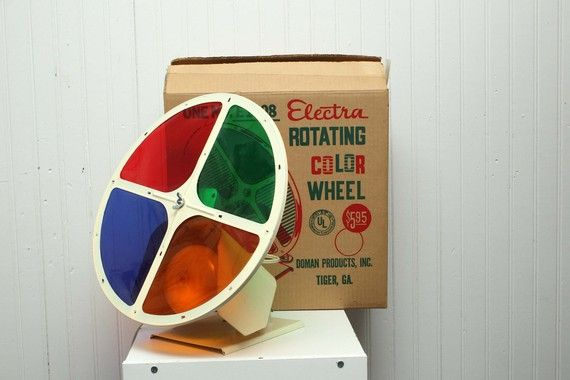 vintage aluminum christmas tree rotating color wheel electra rotating color wheel with original box - Rotating Color Wheel For Christmas Tree