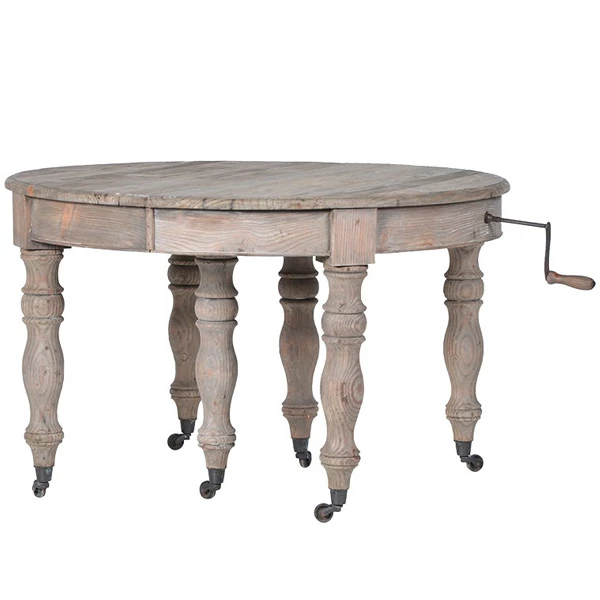 Colette Oval Reclaimed Wood Extendable Dining Table An