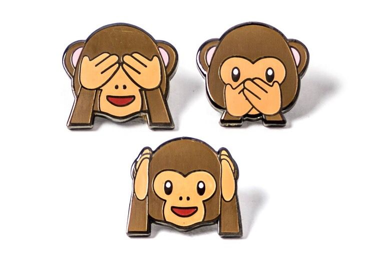 Pin By Liu Lixuanpin On Accessories Three Wise Monkeys Wise Monkeys Monkey Emoji