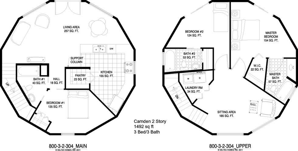 Camden 2 Story 3 Br Round House Custom Floor Plans Round House Plans House Floor Plans