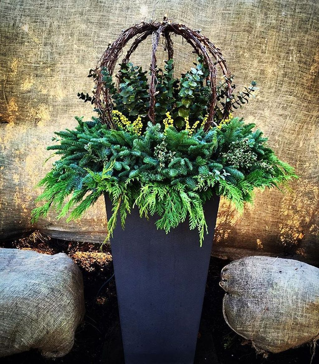 34 The Best Outdoor Winter Planters Ideas